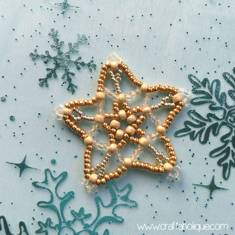 How to make a beaded star - tutorial and pattern from Mastering Beadwork by Carol Huber Cypher