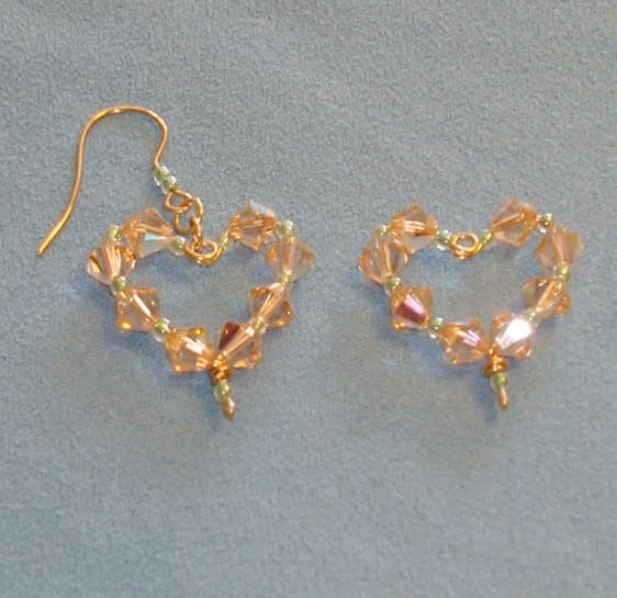 How to make a swarovski heart component for earrings or pendants