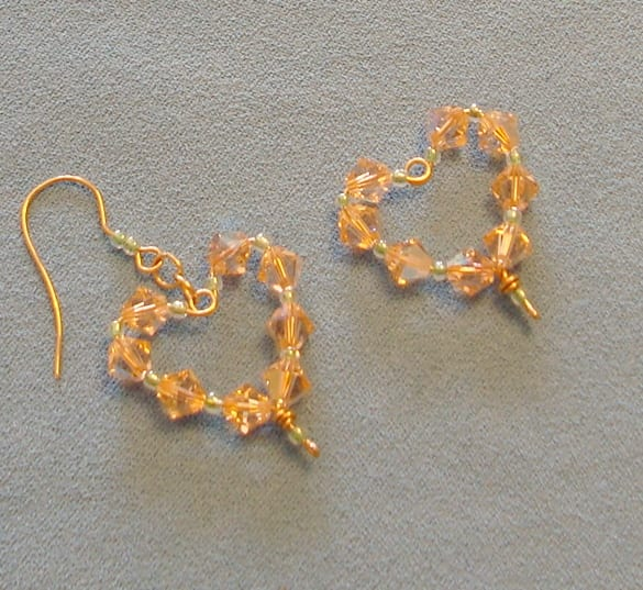 Wire heart component