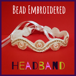 Bead Embroidery Headband
