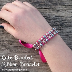 Cute Beaded Ribbon Bracelet 3 - Craftaholique