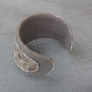 Ribbon and Felt Beaded Cuff Bracelet