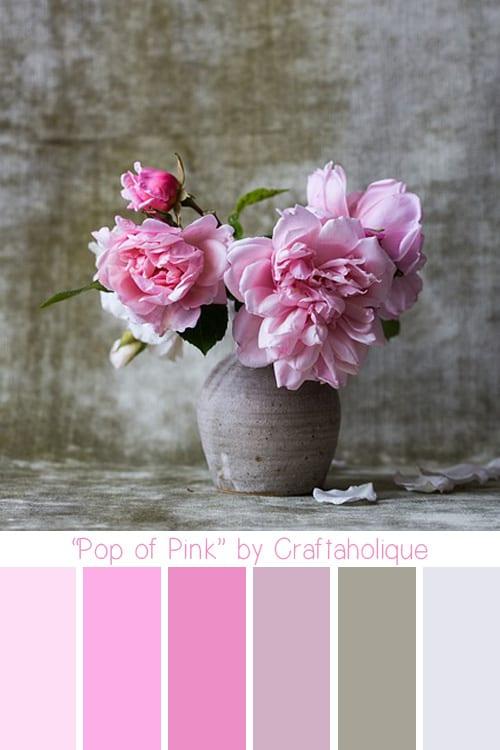 Pop of Pink Colour Palette by Craftaholique