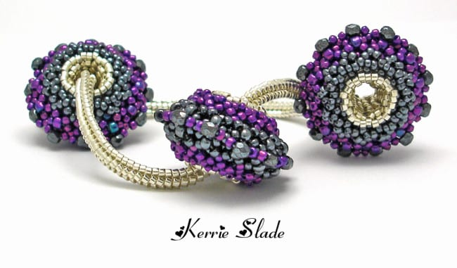 Interview with Kerrie Slade, Beadwork Artist. Silver Core Beaded Beads.