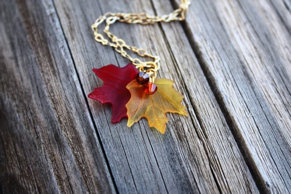 Maple Leaf Necklace - Autumn Fall Handmade Showcase