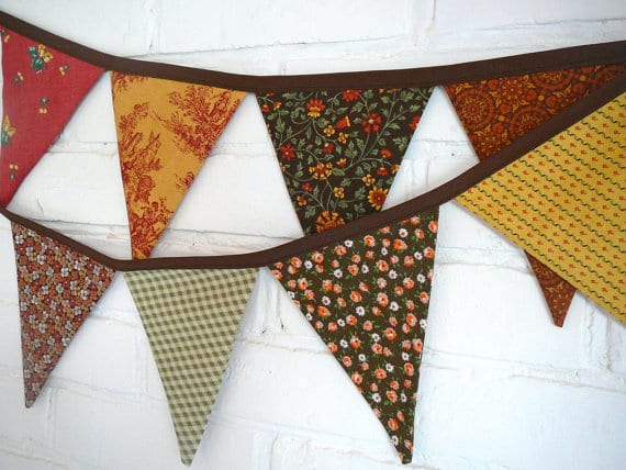 Autumn Bunting / Fall Bunting- Handmade Project