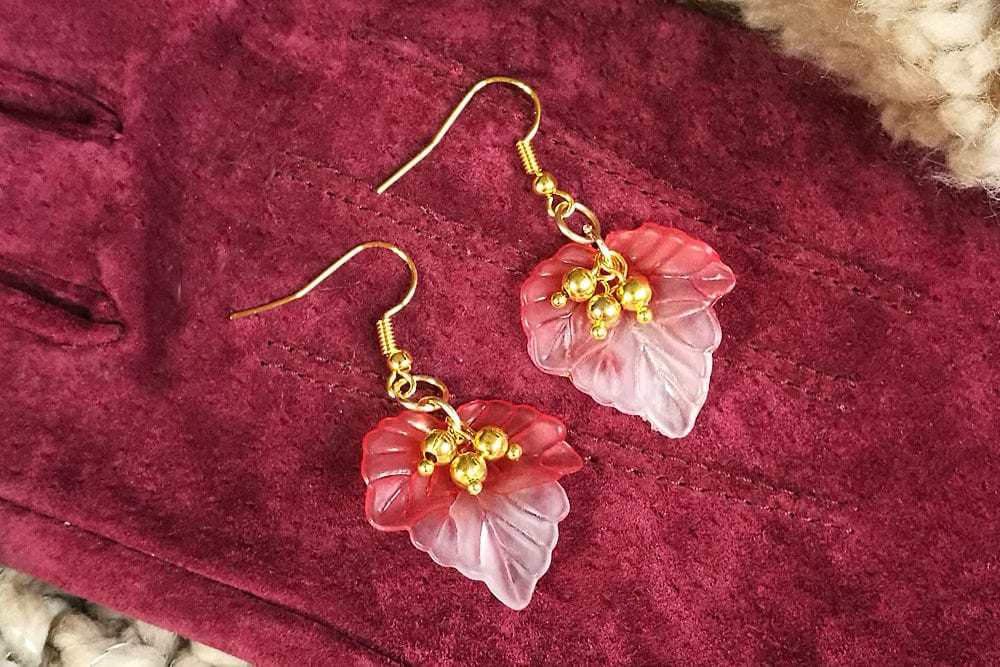 Jewellery Making Tutorial: Autumn Leaf Earrings
