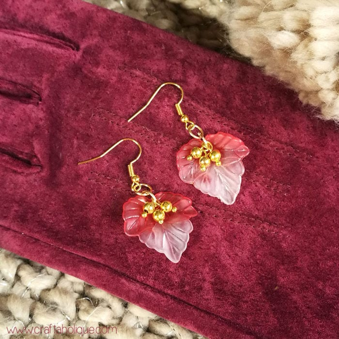 How to make autumn leaf earrings - jewellery making tutorial from Craftaholique