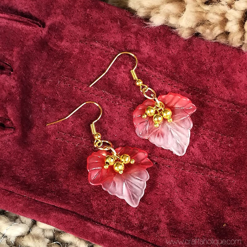 Autumn Fall Leaf Earrings - Jewellery Making Tutorial from Craftaholique