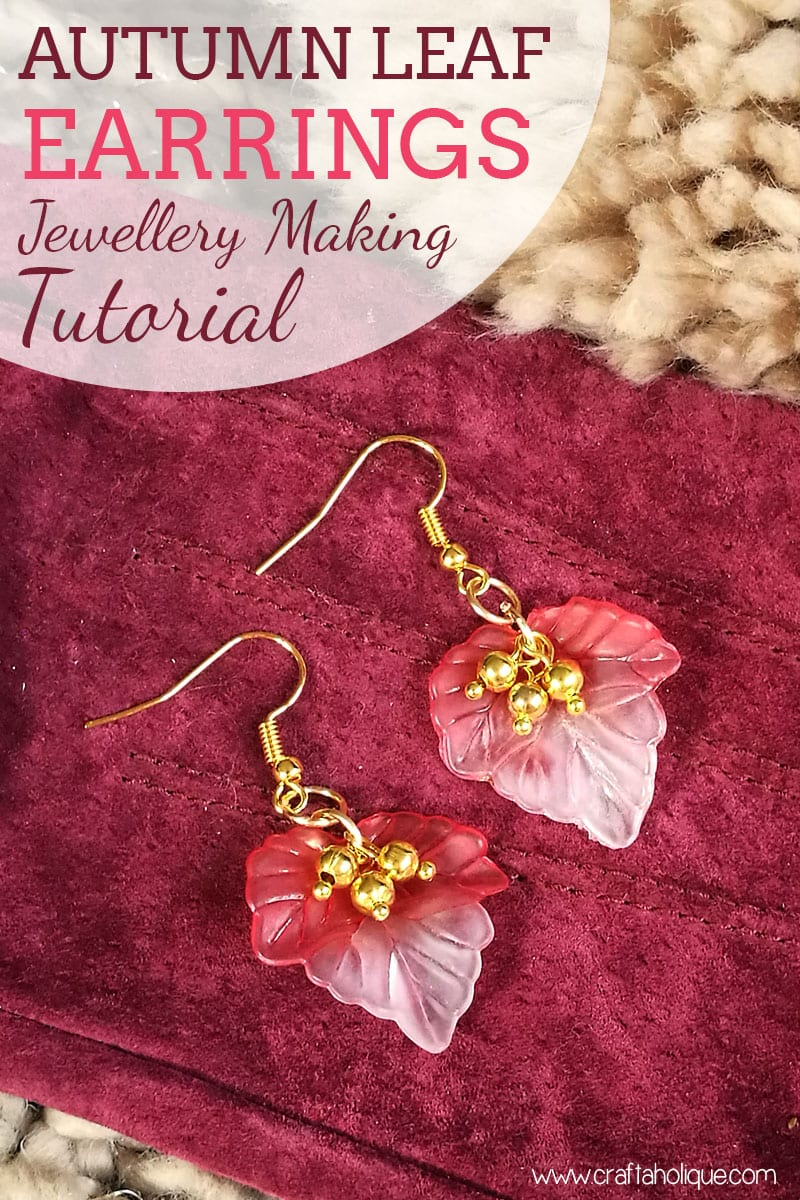 How to make leaf earrings - autumn fall crafts