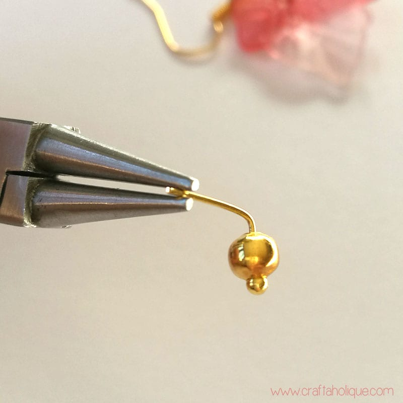 How to make a loop in a headpin - autumn earrings