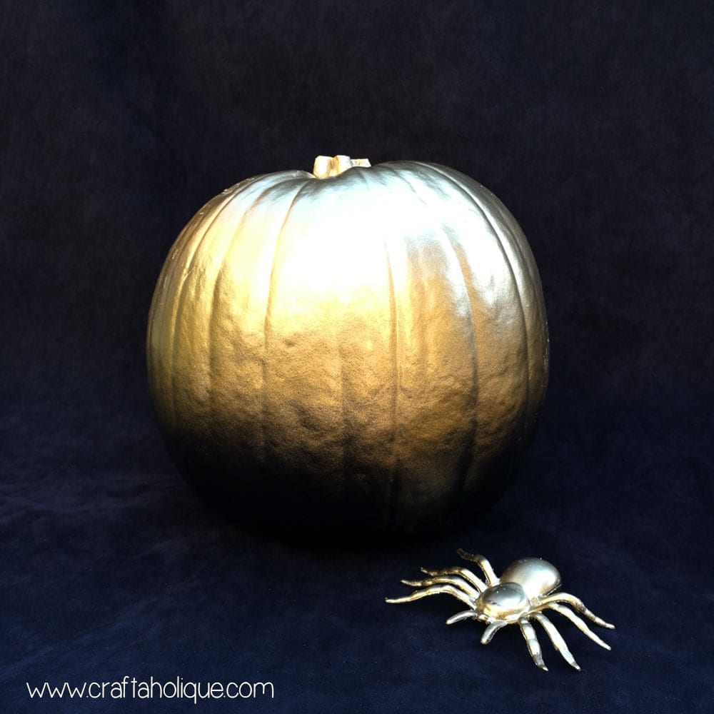 No carve glitzy pumpkins - Halloween crafts