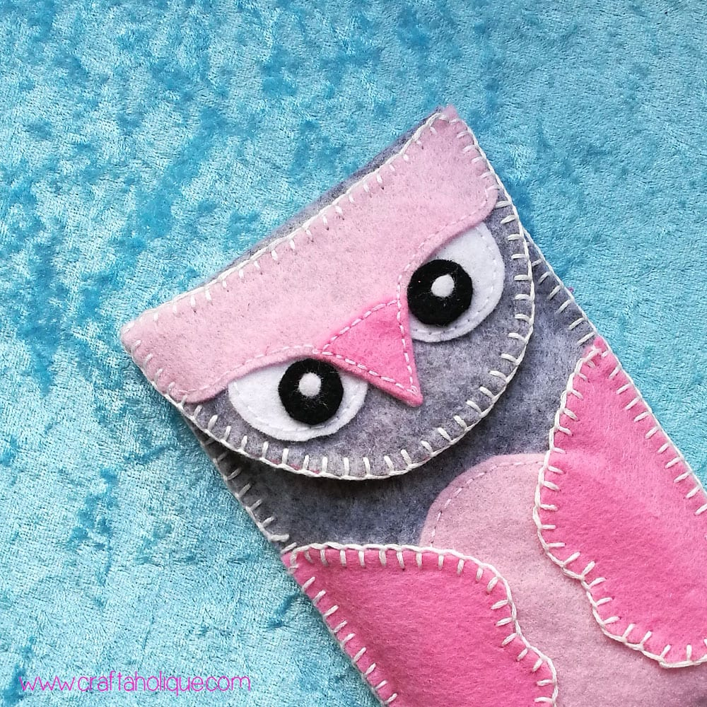 Felt Owl Mobile Phone Case - Novelty Phone Case