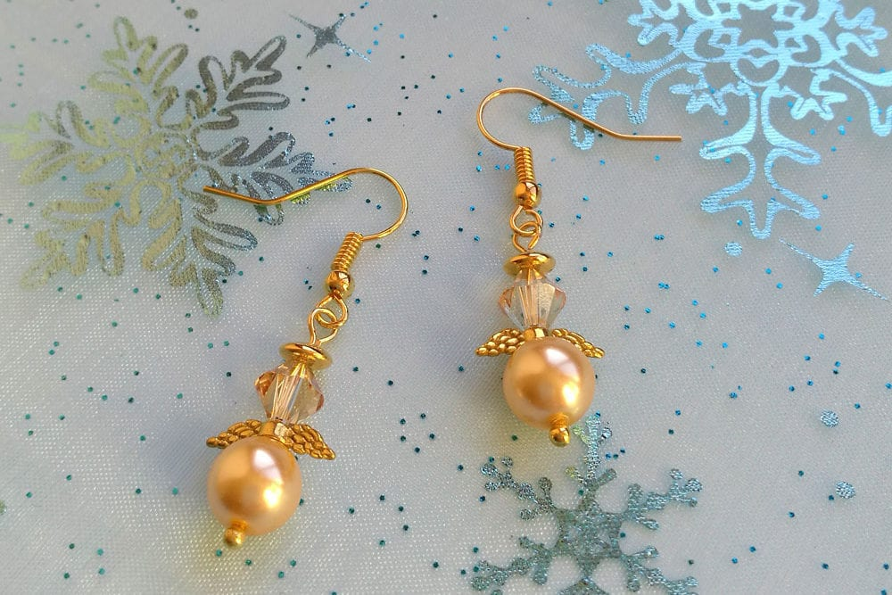 Christmas Crafts: How to Make Beaded Angel Earrings