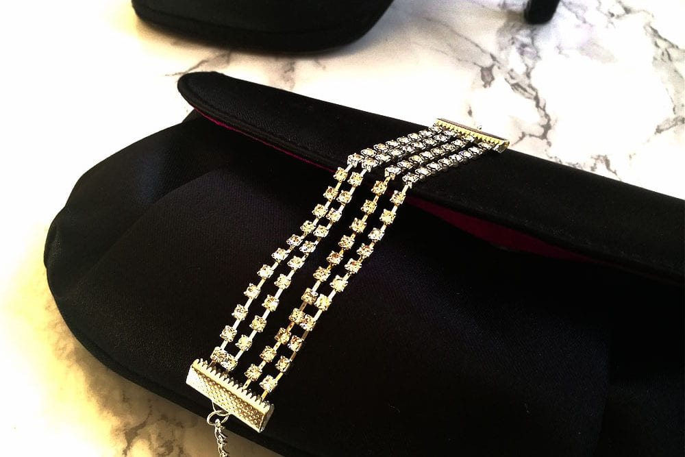 DIY Party Jewellery: How to Make a Multi Strand Sparkly Rhinestone Bracelet