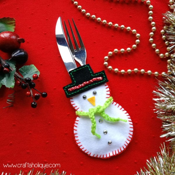 Christmas Craft Ideas: How to Make a Snowman Cutlery Holder