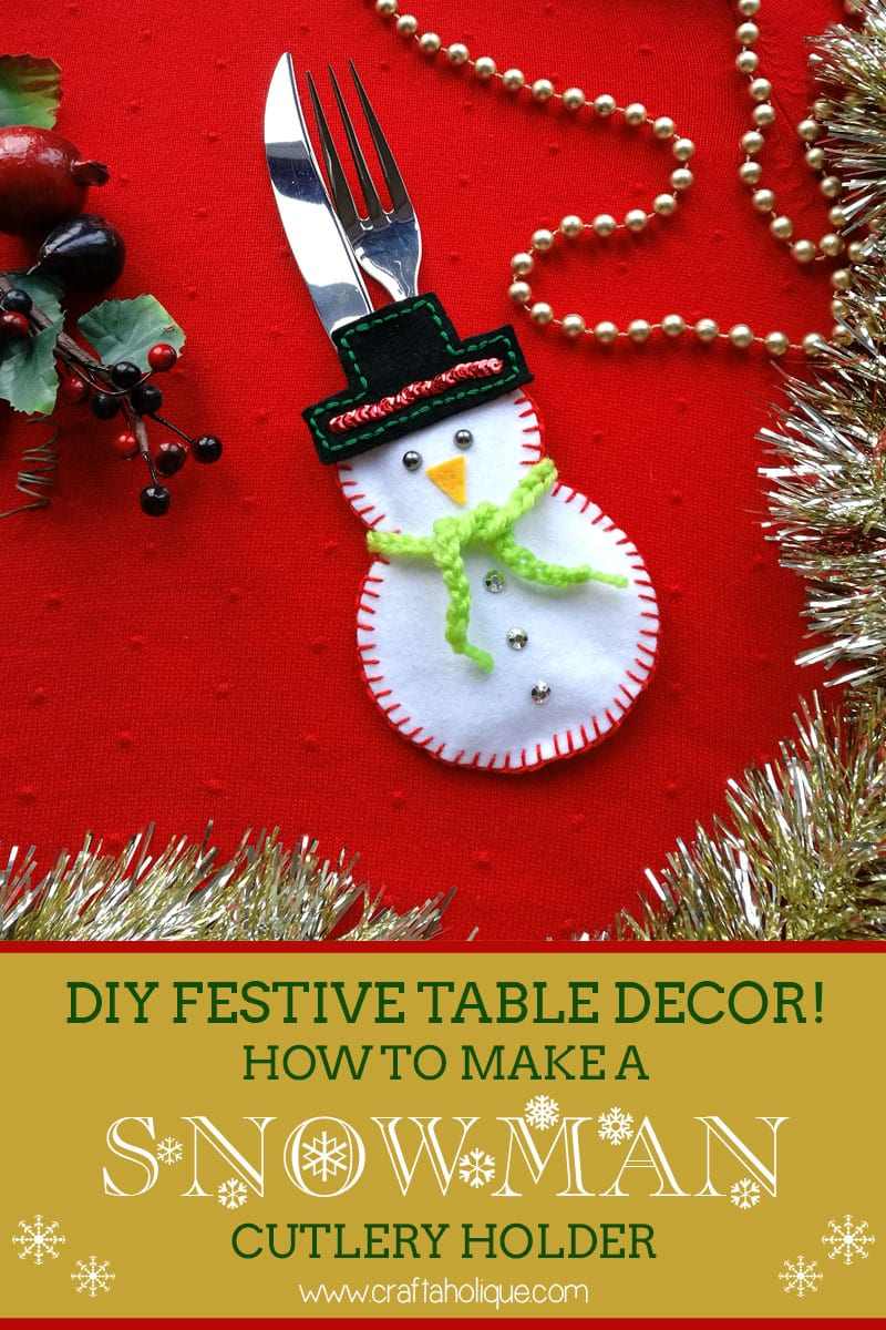 Christmas craft ideas how to make a snowman cutlery holder for Christmas craft table decorations