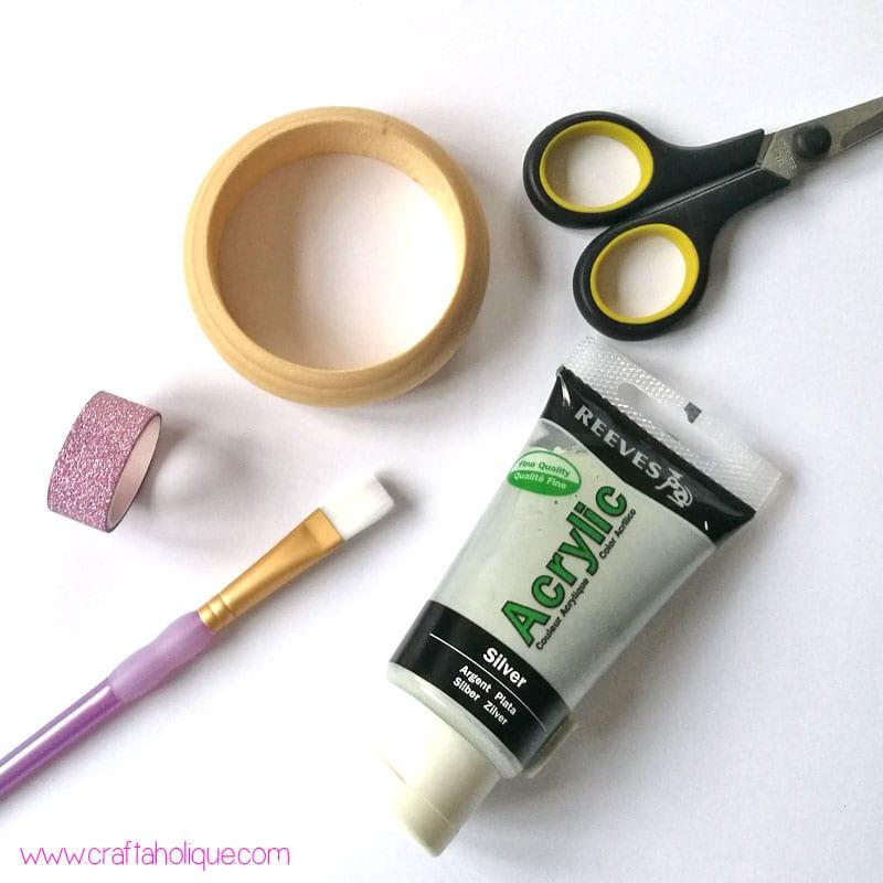 Washi Tape Ideas - Materials needed for washi tape leaf bangle