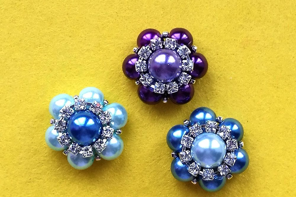 How to Make Sparkly Beaded Flowers