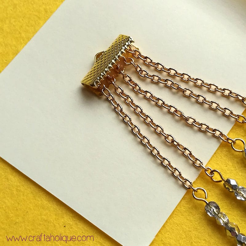 Flat ribbon ends craft project - easy waterfall earrings