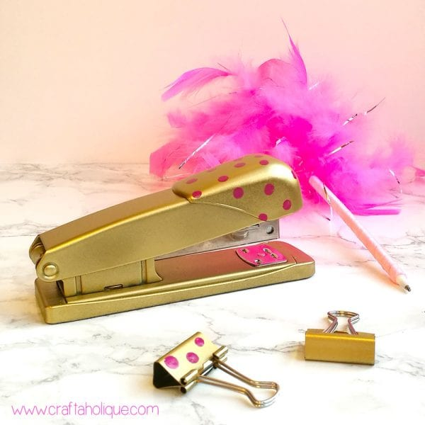 Office Stationery Makeover! Spray Paint & Nail Polish Craft Project