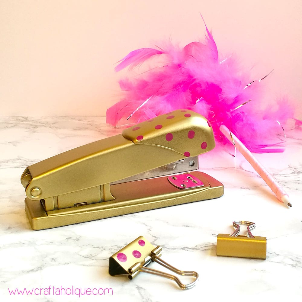 Office Stationery Makeover! How to Spray Paint a Stapler