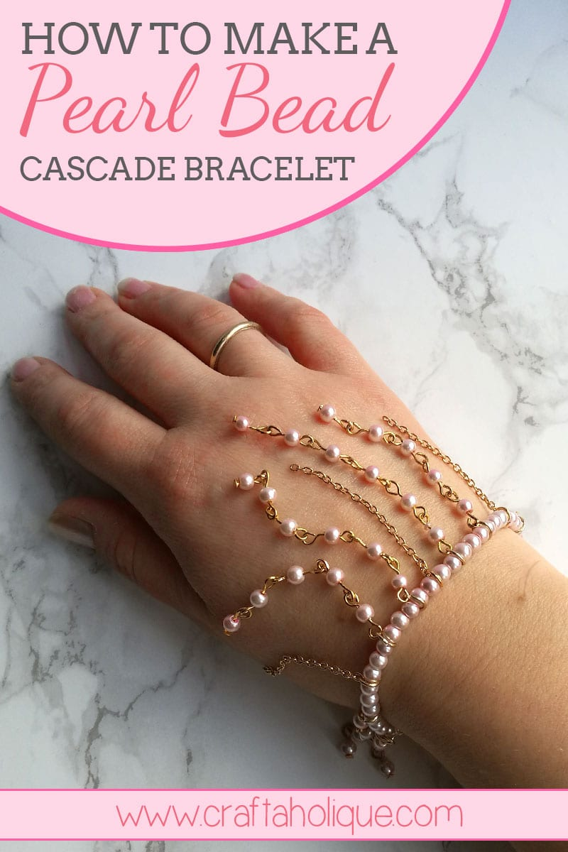 How to make a cascading fringe bracelet from beads and chain