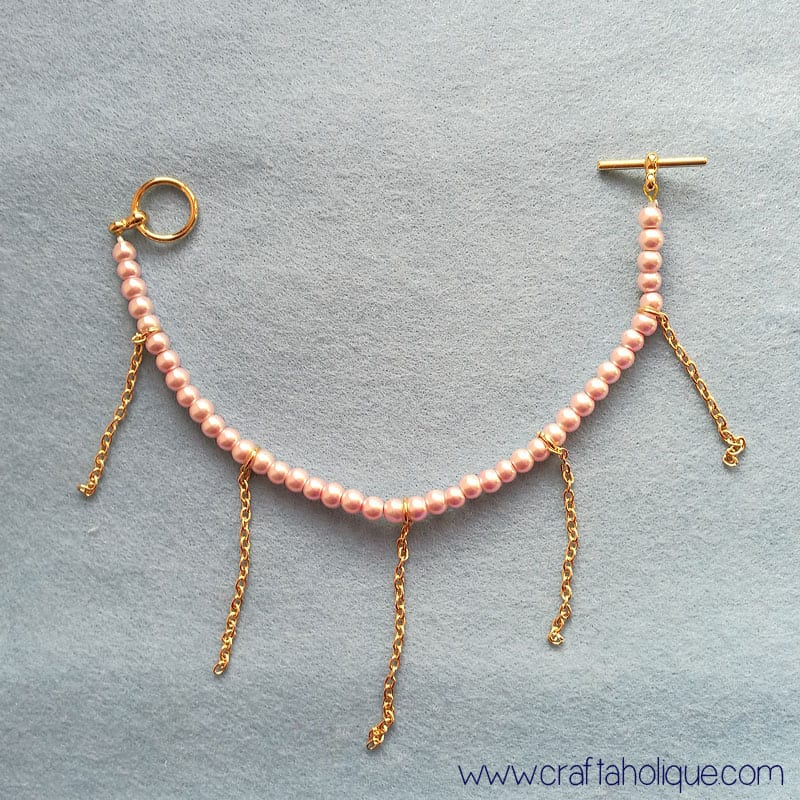 Beaded bracelet projects - adding strands of pearls to bracelet for cascade effect