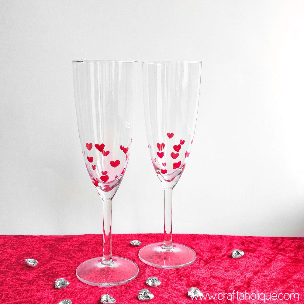 Valentines Day Crafts - Nail Polish DIY Heart Design Glasses