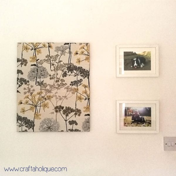Fabric Wall Art: How to Make a Fabric Canvas