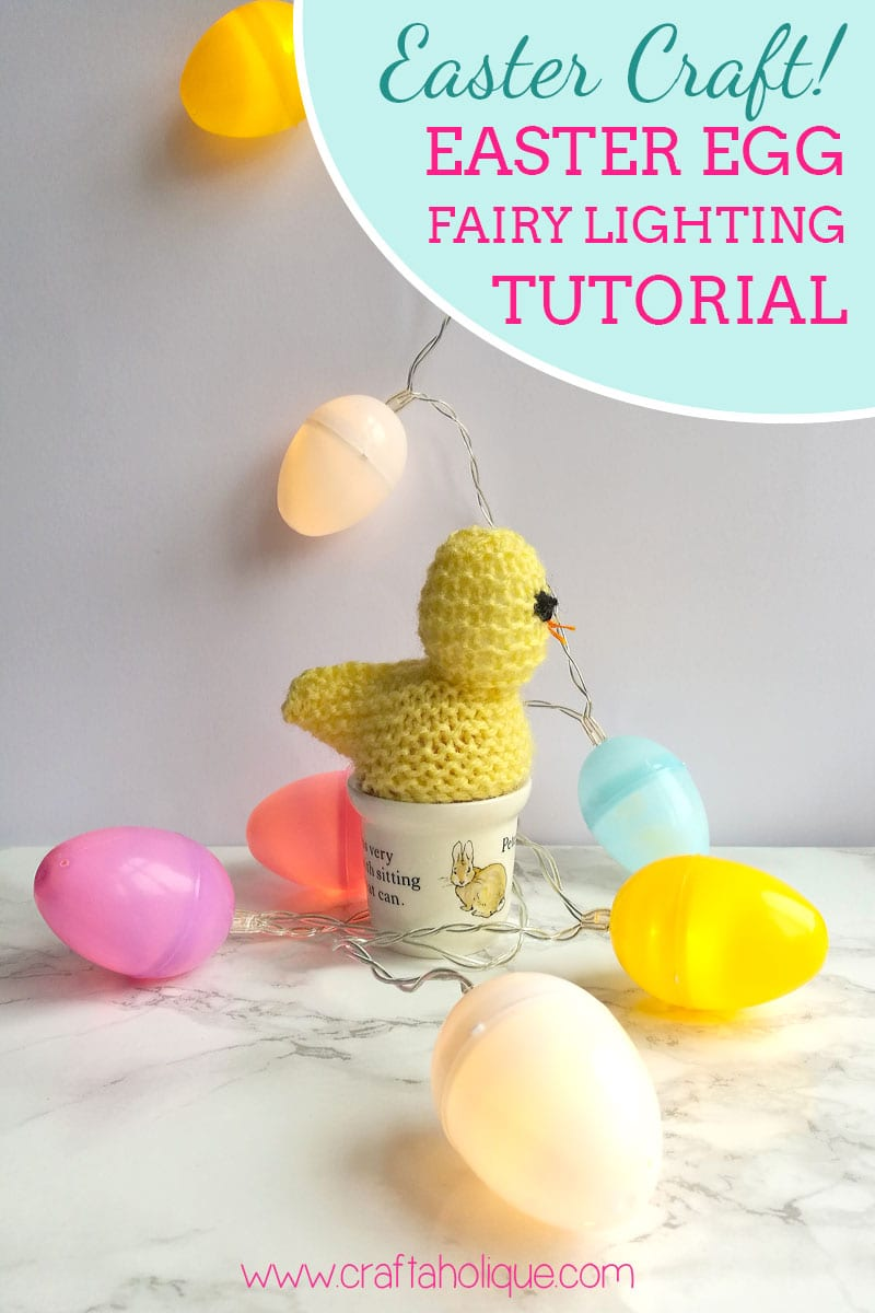 Easter Craft Project - How to make Easter Egg Fairy Lights
