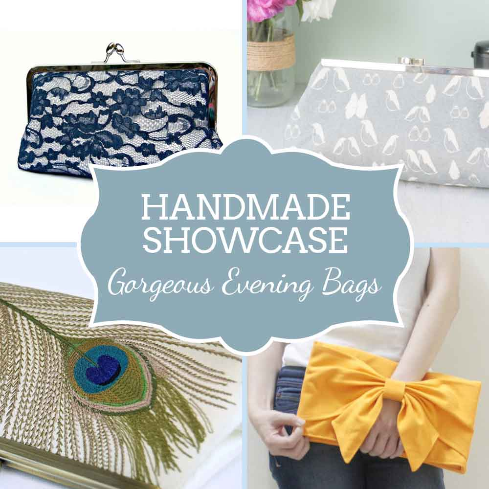 Handmade evening bags - gorgeous handmade clutch bags and purses from Etsy