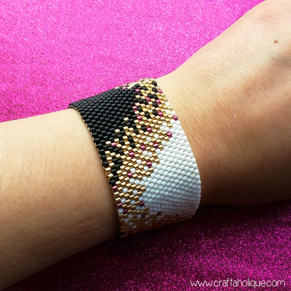 Peyote Stitch Patterns - Beaded Bracelet with Miyuki Delicas