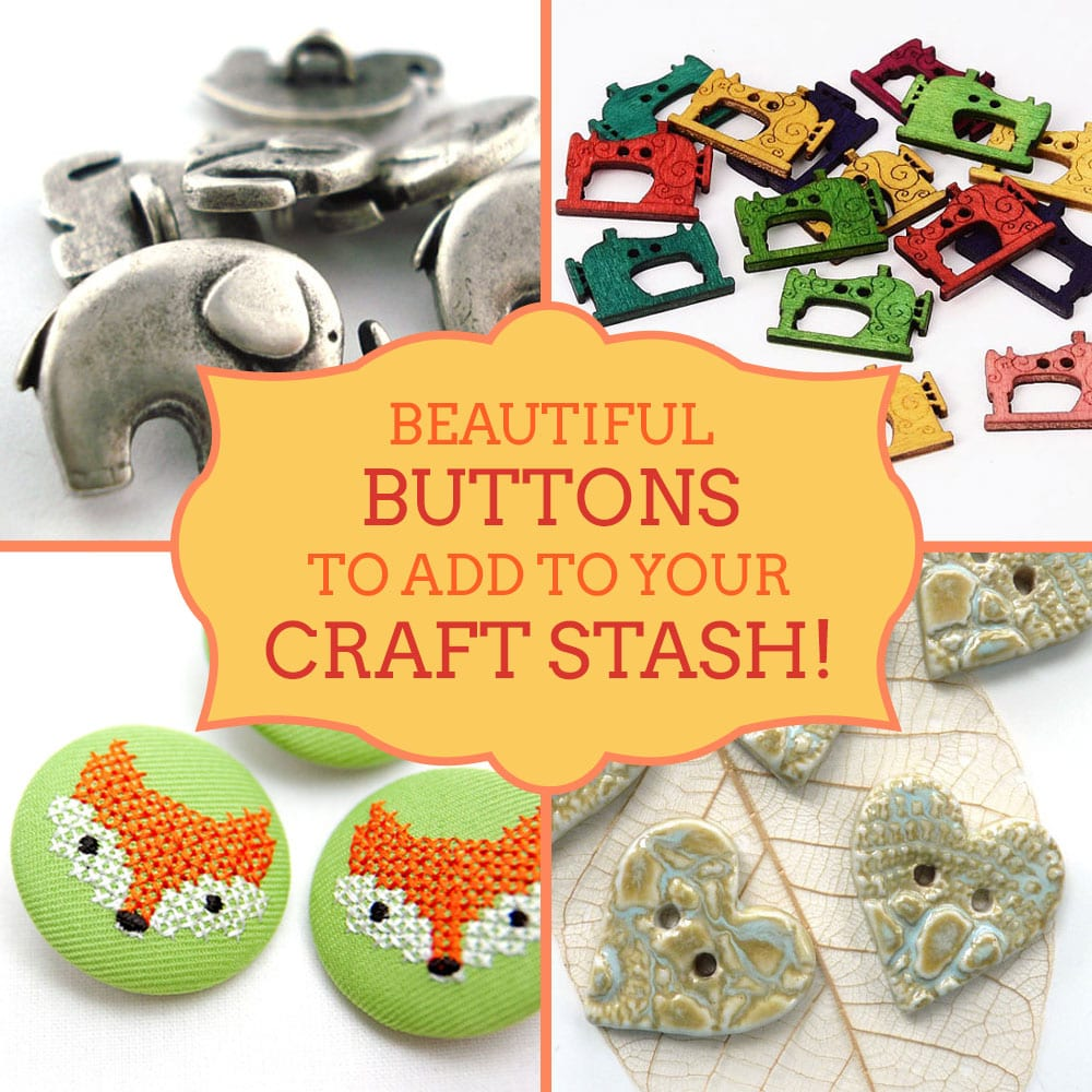 Where to buy beautiful buttons - best button suppliers on Etsy