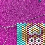 Flat odd count peyote stitch tutorial - beadwork tutorial from Craftaholique