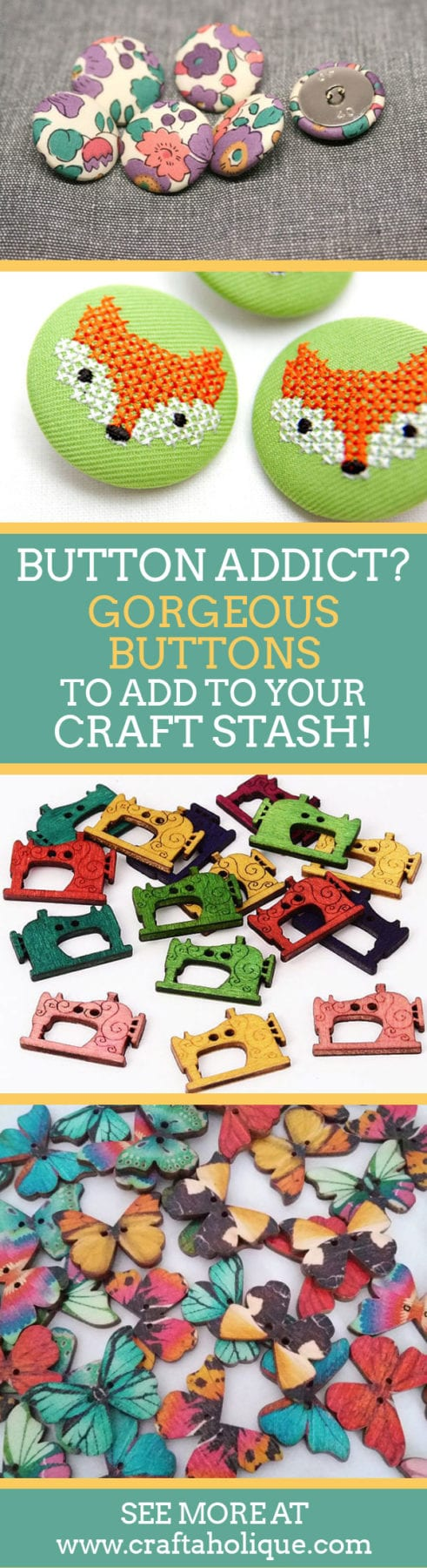 Beautiful buttons for your craft stash! Where to buy beautiful buttons - best button suppliers on Etsy