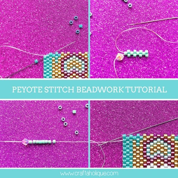 Beadwork Tutorial! Learn Flat Odd and Even Count Peyote Stitch