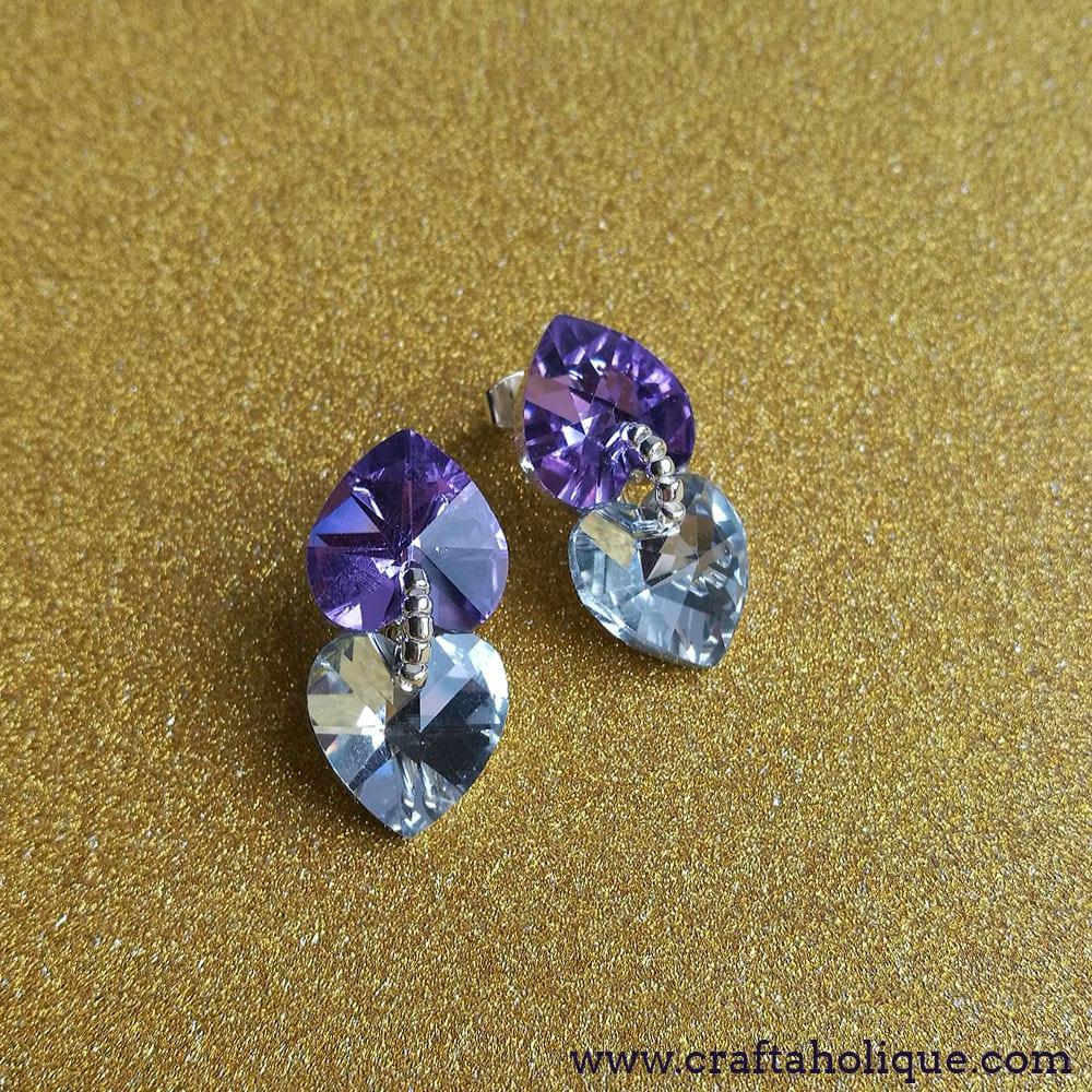 10 minute jewellery DIY: Glam Double Heart Earrings Project