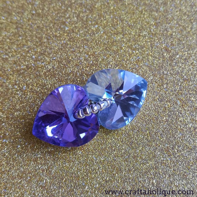 Crystal Heart Earrings with Toho Seed Beads - Jewellery DIY