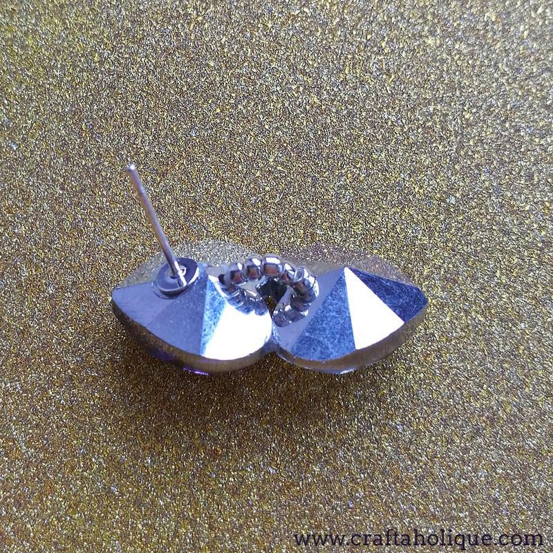 Beginner jewellery making project - crystal heart earrings