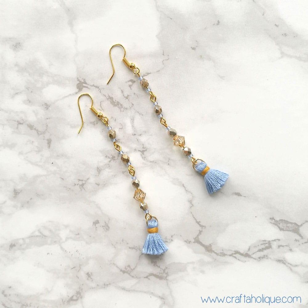 Tutorial Mini Tassel Earrings 30 Minute Make Craftaholique