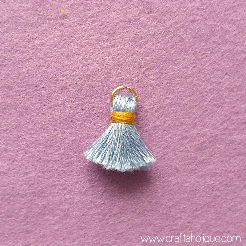 Mini tassel earrings project from Craftaholique