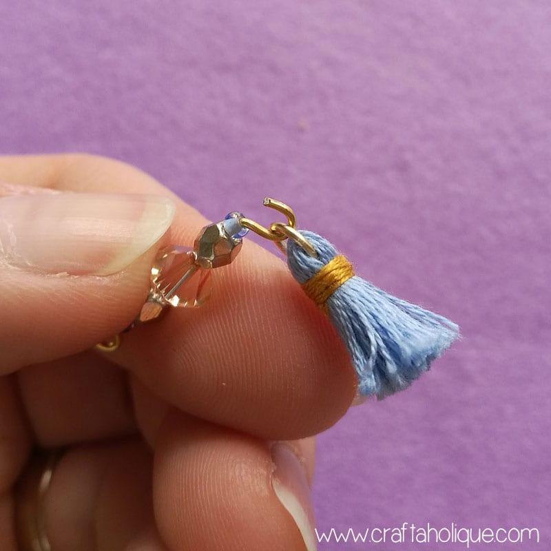 Earring tutorial - mini tassel earrings with beads