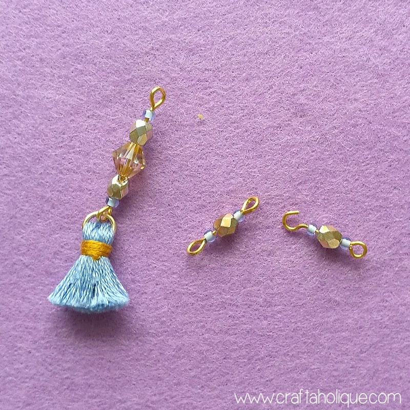 Earring tutorial - mini tassel earrings with beads