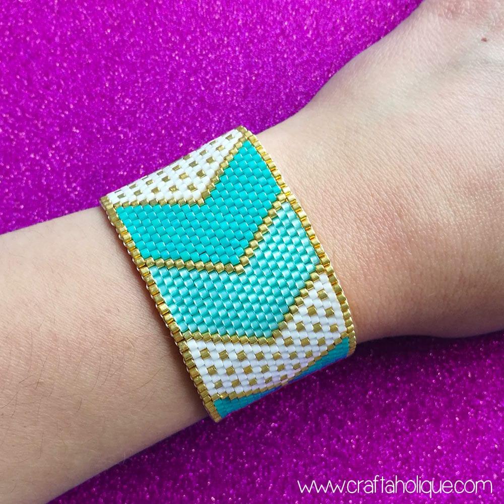 Chevron Bracelet Peyote Pattern from Craftaholique