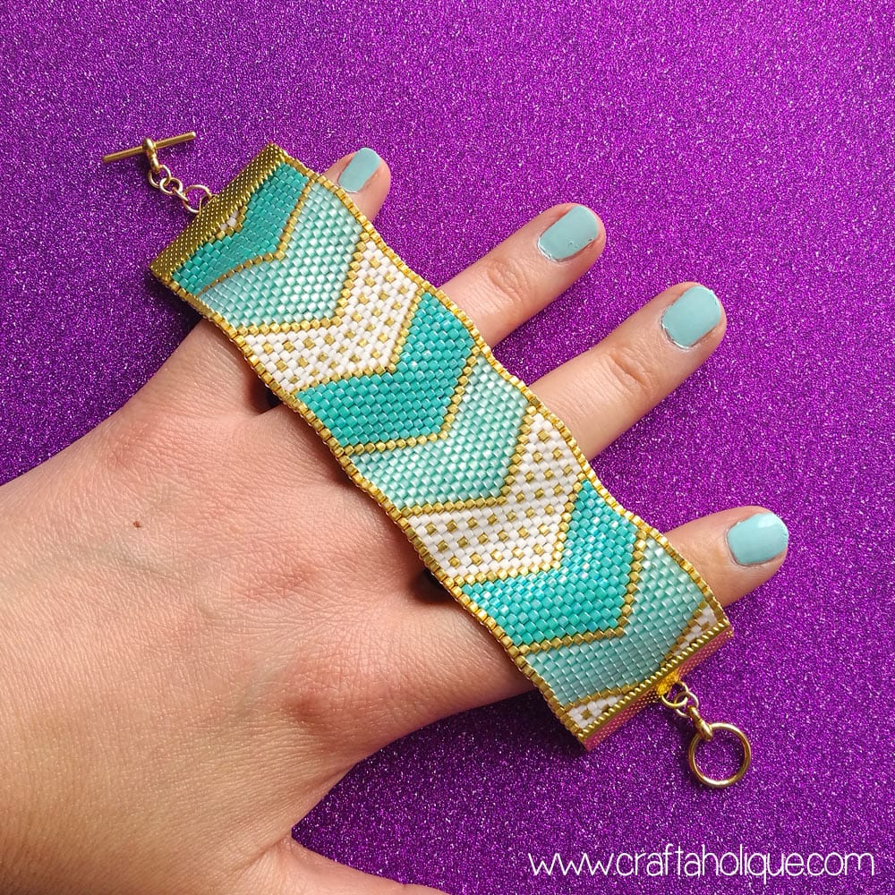 Chevron bracelet - Chevron Bracelet Peyote Pattern From Craftaholique