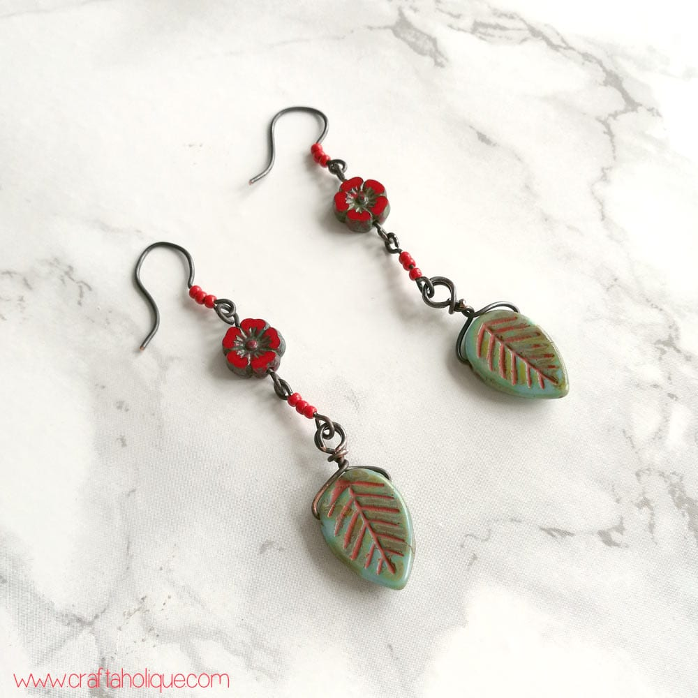 Boho Festival Earrings Tutorial by Craftaholique