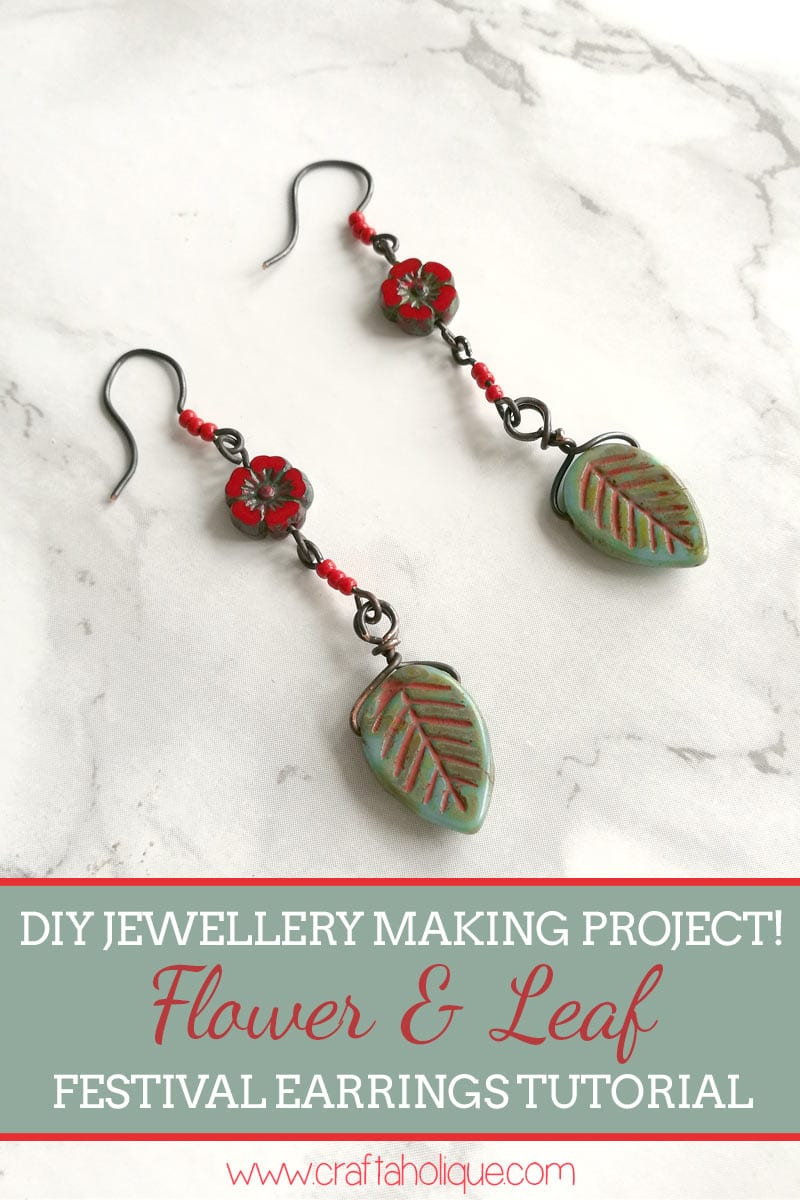 Boho Festival Earring Tutorial with Artisan Beads by Craftaholique