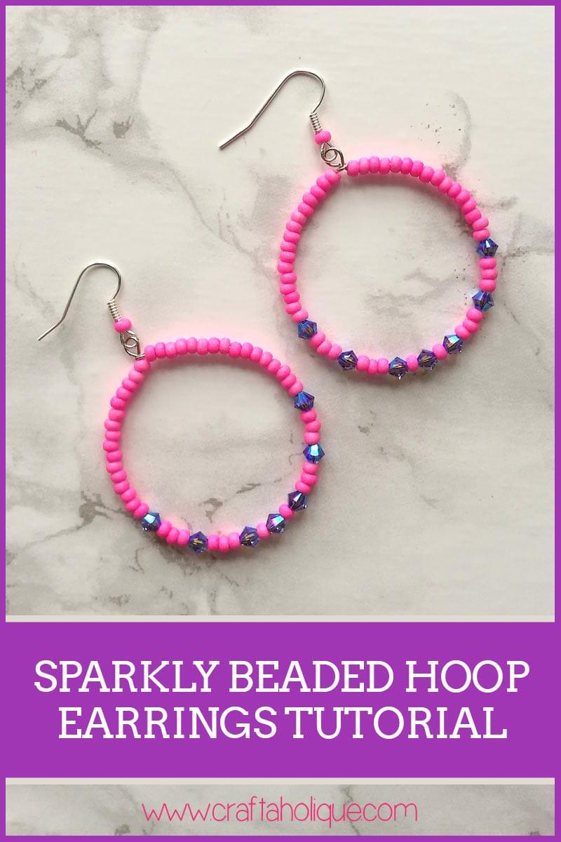 Beaded Hoop Earrings Tutorial