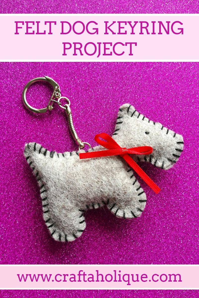 Felt Dog Keyring Quick Kit from Amazing Crafts